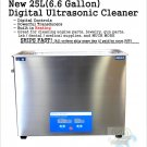 25L Liter 6.6 Gallon Ultrasonic Jewelry Dental Medical Cleaner Stainless