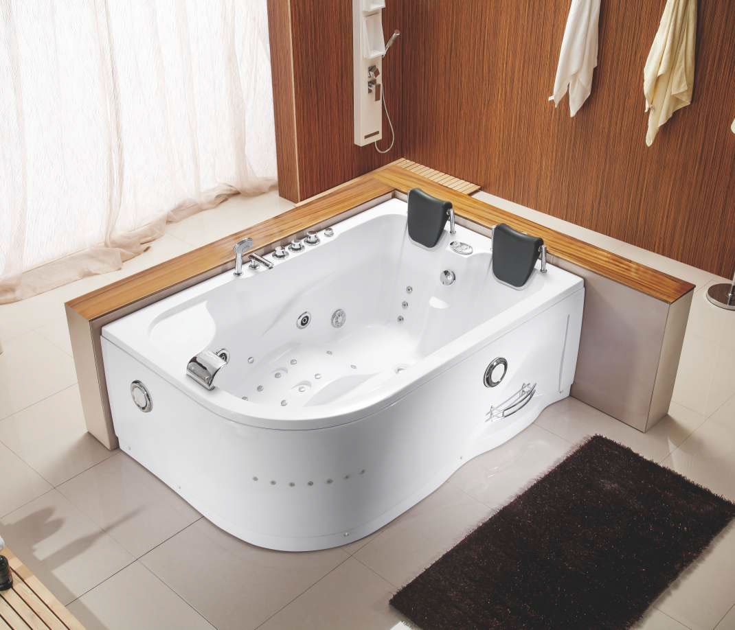 Indoor hot tub 2 person  Two 2 Person Indoor Whirlpool Hot Tub Jacuzzi Massage Bathtub ...