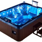Extended Length Double Lounger 7 Person Outdoor Hot Tub Whirlpool Spa 110 Jets