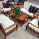 New 6 Piece Indoor / Outdoor Solid Wood Patio Furniture Chairs