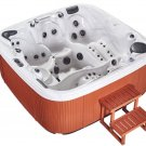 NEW Double Lounger 5 Person Outdoor Hot Tub Whirlpool Spa 110 Jets