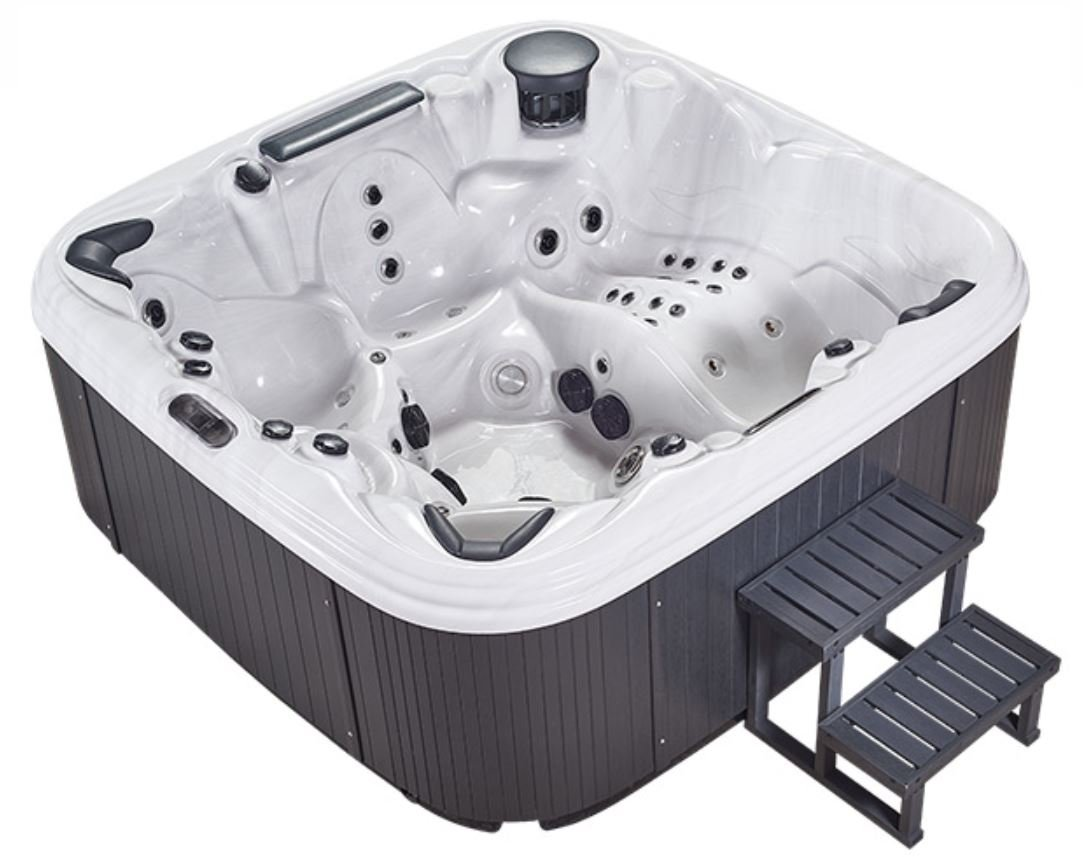 NEW 6 Person Outdoor Hot Tub Whirlpool Jacuzzi Spa 110 Jets + Lounger