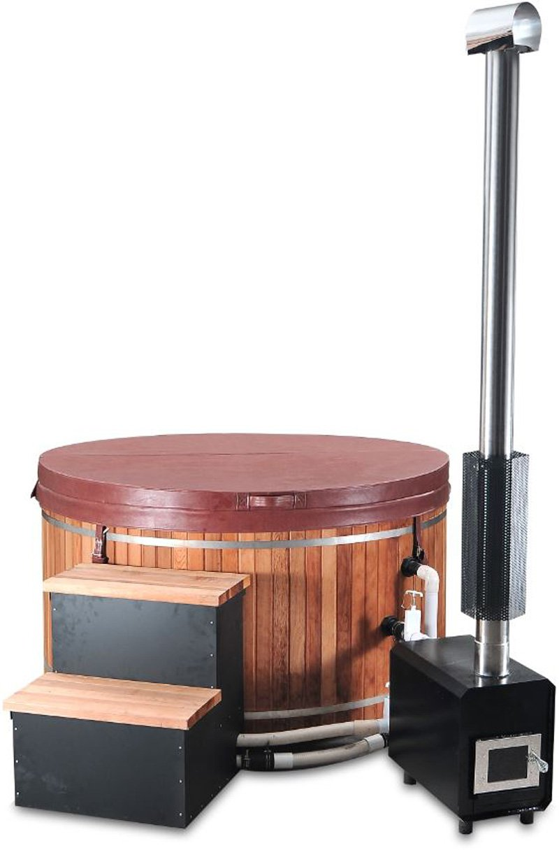 Redwood Patio Furniture Home Depot: 5' Canadian Redwood Cedar Outdoor Wood-Fired Hot Tub Sauna