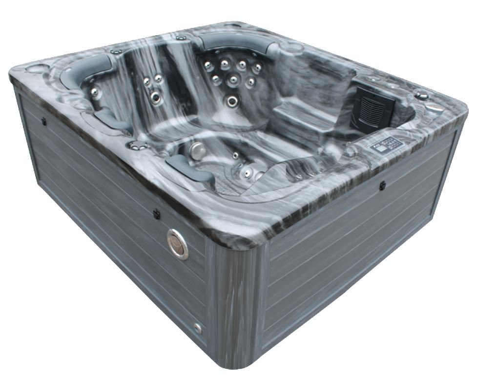 New 6 Person Grey Marble Outdoor Hot Tub Spa Balboa
