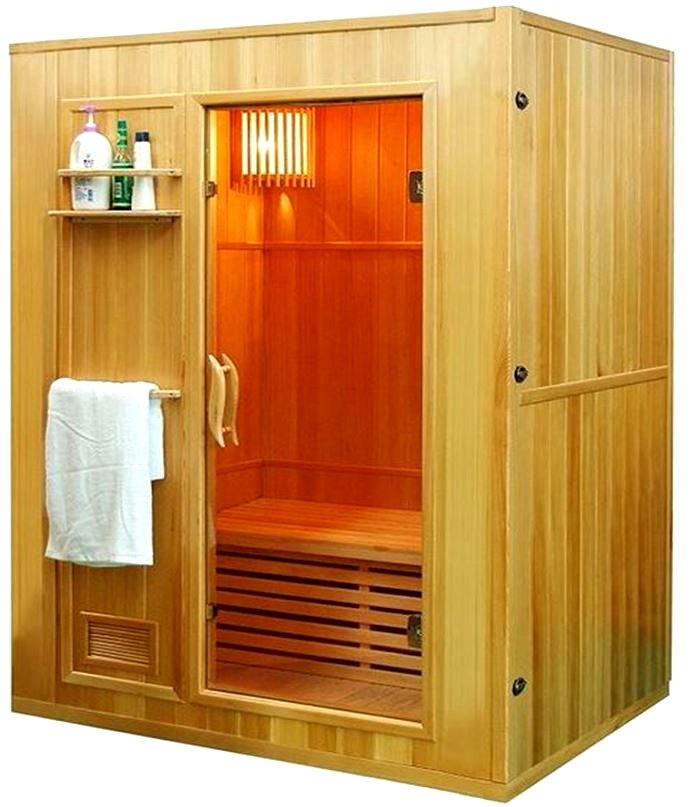 """New 60"""" 2/3 Person Canadian Hemlock Traditional Wet Dry Steam SPA Sauna + 6KW Heater Upgrade"""