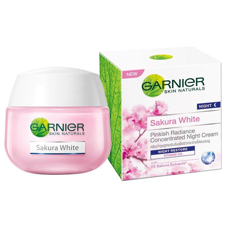 Garnier Sakura White Pinkish Radiance Sleeping Radiance Night Restore Cream 50ml