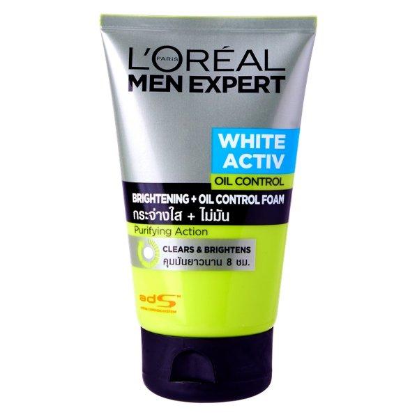 L'Oreal Men Expert White Activ Bright Oil Control Whitening Foam 100ml