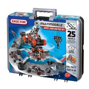 Erector Motorized Racing Car & More - 643 pc Metal Construction Set NEW