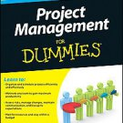 Project Management For Dummies by Stanley E. Portny (2010, Paperback)