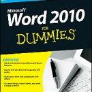 Word 2010 for Dummies by Dan Gookin (2010, Paperback)