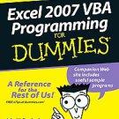 Excel 2007 VBA Programming For Dummies by John Walkenbach (2007, Paperback)