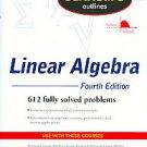 Schaum's Outlines Linear Algebra by Marc Lars Lipson Ph.D., Marc Lars Lipson,...
