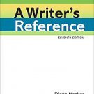 A Writer's Reference by Diana Hacker and Nancy Sommers (2010, Hardcover, Spiral)