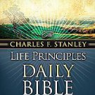 Life Principles Daily Bible by Charles Stanley (2007, Paperback)