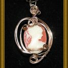 Beautiful Cameo Wire Wrapped Pendant