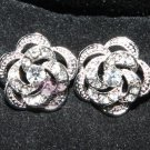 LOT OF 2 WEDDING DECORATION DRESS CRAFT RHINESTONE CRYSTAL FLOWER ROSE BUTTONS