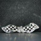 RHINESTONE CRYSTAL WEDDING BRIDAL SHRUG SASH CLASP BUTTON BUCKLE HOOK CLOSURE