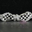RHINESTONE CRYSTALS SEW-ON EYE AND BUTTON CLOSURE MATCHING VINTAGE STYLE CLASP