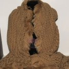 LARGE LONG THINK WINTER CHUNKY PASHMINA FUR LACE KNIT WRAP STOLE SCARF SHAWL