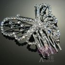 ART DECO BUTTERFLY BRIDAL WEDDING SILVER RHINESTONE CRYSTAL TIARA HAIR COMB