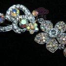 RHINESTONE CRYSTAL BRIDAL WEDDING DRESS TEARDROP HAIR DANGLE BROOCH PIN