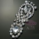 VINTAGE STYLE WEDDING DANGLE RHINESTONE CRYSTAL TEARDROP APPLIQUE CHARM