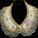 CHAIN METAL LACE RHINESTONE CRYSTAL FAUX PEARL CHOKER NECK COLLAR NECKLACE