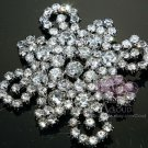 RHINESTONE CRYSTAL VINTAGE STYLE WEDDING SASH CROSS BRIDAL BROOCH PIN