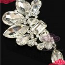 AUSTRIA HIGH-END SWAROVSKI CRYSTAL BRIDAL WEDDING DRESS BUCKLE HOOK/BROOCH PIN