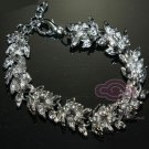 BRIDAL WEDDING RHINESTONE CRYSTAL CHARM CHAIN LINKS BRACELET