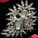 LARGE RHINESTONE CRYSTAL GLASS BRIDAL WEDDING CAKE DECORATION CRAFT BROOCH PIN
