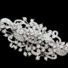 "4"" LARGE WEDDING BRIDAL DECORATION CLEAR RHINESTONE CRYSTAL BROOCH PIN"