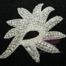 "4.7"" BEADED GLASS CRYSTAL RHINESTONE WEDDING EMBELLISHMENT HEADBAND APPLIQUE"