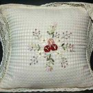 EMBROIDERY FLORAL BEIGE LACE CHAIR SOFA GARDEN PILLOW CUSHION PADS CASE