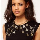 A PAIR CAMEO CRYSTAL CHAIN DOLLAR PUNK WEDDING SHOULDER EPAULETTES NECKLACE