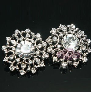 LOT Of 50 VINTAGE STYLE WEDDING DECORATION RHINESTONES SUIT SHANK BUTTONS