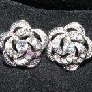 LOT OF 100 WEDDING DECORATION DRESS CRAFT RHINESTONE CRYSTAL FLOWER ROSE BUTTONS