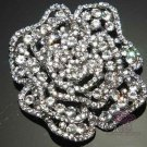 LOT OF 6 WEDDING RHINESTONE CRYSTAL ROSE FLOWER WEDDING BOUQUET CAKE BROOCH PIN