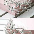 ROSE FLOWER WEDDING BRIDES BRIDAL RHINESTONE CRYSTAL HAIR COMB