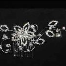 ROSE RHINESTONE CRYSTAL SILVER GOLD FLOWER BRIDAL WEDDING HAIR COMB TIARA