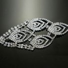 "5"" BRIDAL WEDDING RHINESTONE CRYSTAL SASH DRESS PEACOCK VEIL HAIR CLIPS"