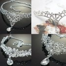 BRIDAL WEDDING RHINESTONE CRYSTAL TIARA FRONT HEAD CROWN HEADBAND