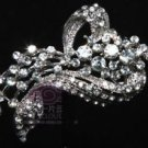 WEDDING BRIDAL CAKE DRESS MOTHER OF BRIDE RIBBON RHINESTONE CRYSTAL BROOCH PIN