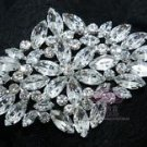 BRIDAL WEDDING RHINESTONE CRYSTAL BLING RHOMBUS VINTAGE STYLE BROOCH PIN PINS