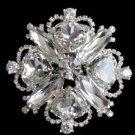 WEDDING BRIDAL AUSTRIA GLASS RHINESTONE CRYSTAL HAIR DRESS SASH BROOCH PIN