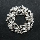 BRIDAL DRESS VINTAGE CRYSTAL RHINESTONE SILVER RING CAKE BUCKLE BROOCH PIN