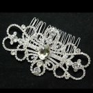 SYMMETRY BRIDAL WEDDING BRIDES SILVER RHINESTONE CRYSTAL TIARA HAIR COMB