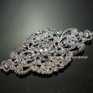LOT OF 6 WEDDING BRIDAL RHINESTONE DRESS APPLIQUE VINTAGE RHOMBUS BROOCH PIN