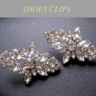 LOT OF 8 RHINESTONE CRYSTAL WEDDING BRIDESMAIDS RHOMBUS BUCKLE SHOES CLIPS