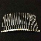LOT OF 4 TEETH14/20 DOUBLE LOOPED BRIDAL WEDDING DIY SILVER GOLD METAL HAIR COMB